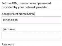 Sprint APN Settings for Blackberry q10 Bold Curve Z10