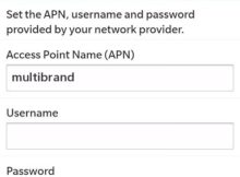 GoSmart APN Settings for Blackberry