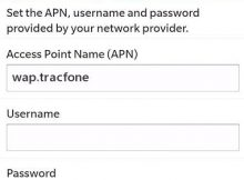 Net 10 APN Settings for Blackberry z10