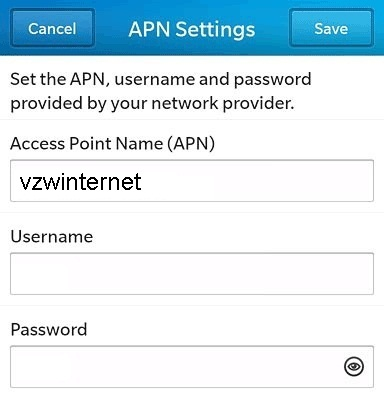 Straight Talk APN Settings for Blackberry