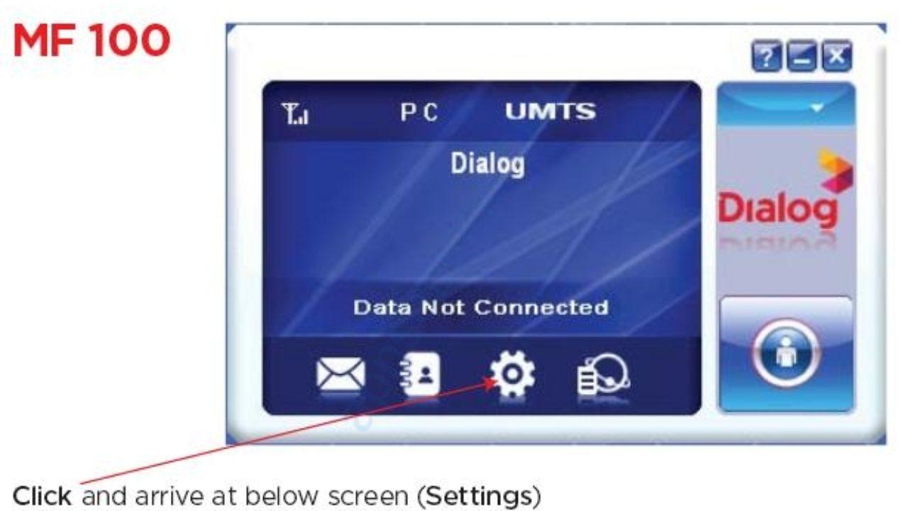 Dialog Internet Settings for Dongle Huawei - APN Settings
