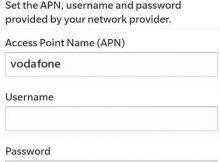 Vodafone NZ APN Settings for Blackberry