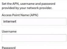 Spark APN Settings for Blackberry - 10