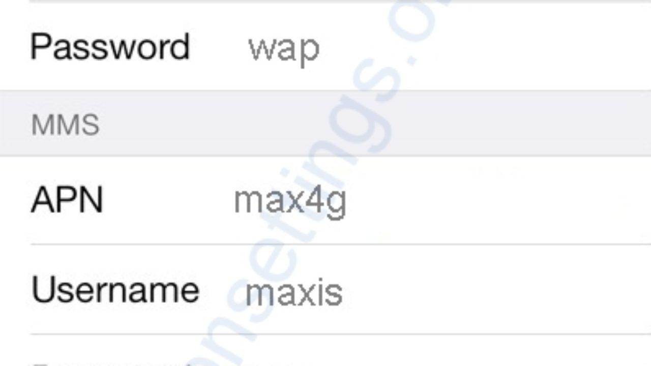 Maxis APN Settings for iPhone - APN Settings