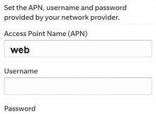 Blackberry APN NCell Nepal