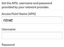 Blackberry APN NTC