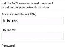SMART Blackberry APN Settings