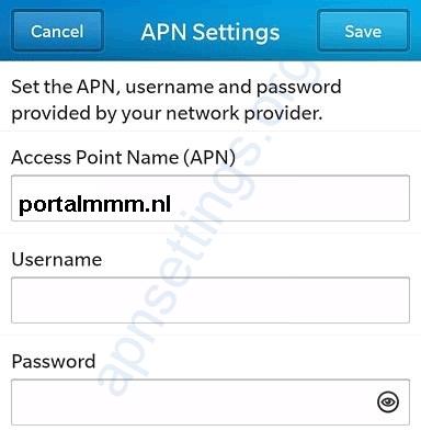 KPN APN Blackberry Instellingen