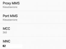 Konfiguracja internetu, MMS T-Mobile dla HTC Galaxy