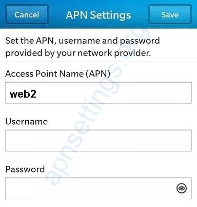 Mobily APN Settings for Blackberry