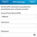 Telenor Myanmar APN Settings - APN Settings