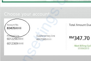 account number maxis