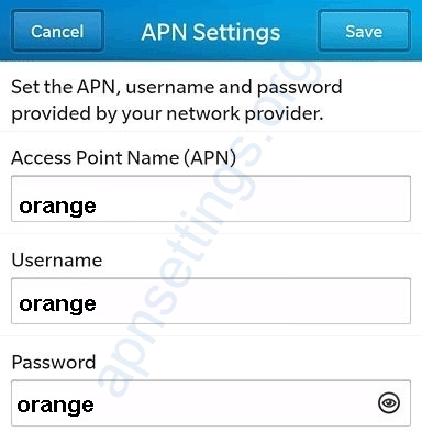 Orange Cameroon Blackberry Internet Settings