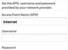 Vodafone Ghana Blackberry Internet Settings