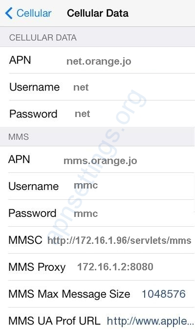 APN Settings for iPhone iPad