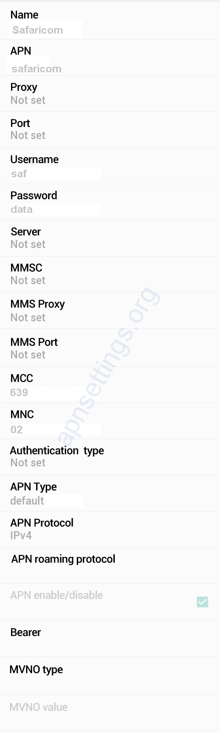 Safaricom APN Settings for Android