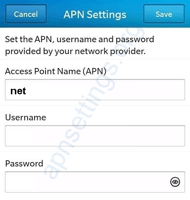 Umniah Blackberry APN Settings