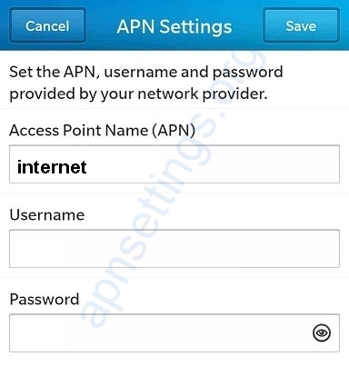 MTN Zambia Blackberry Internet Settings