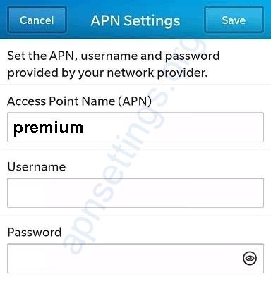 UTS Chippie Bonaire Blackberry APN Settings