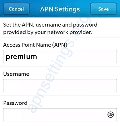 UTS Chippie Curacao Blackberry APN Settings
